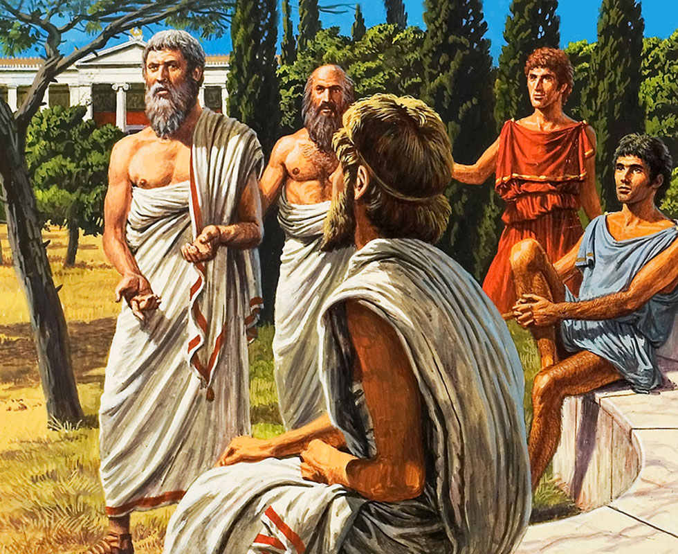 a history of philosophy in ancient greece History of philosophy western philosophy ancient philosophy greek philosophy the whole history of western civilization has been a tug-of-war between these.